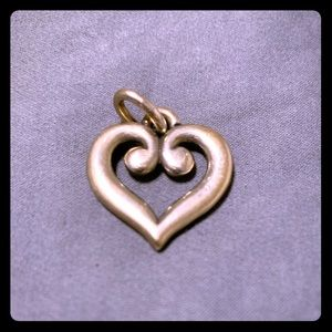 James Avery scroll heart pendant